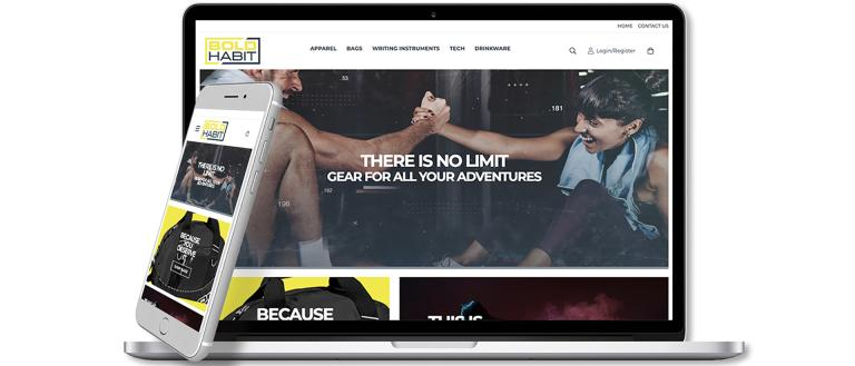 Bold Habit Company Stores website.
