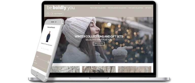 Winter-themed Company Stores website.